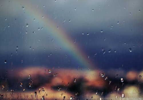 No rainbow without rain