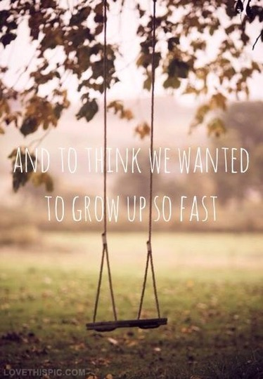 When did we grow up?